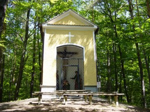 Kreuzwegkapelle 2007 am Kreuzweg Milchgraben in Kainbach bei Graz