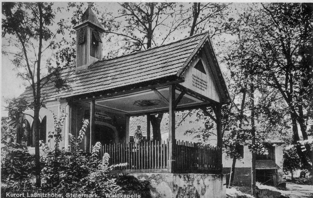 Botenhofkapelle 1931 beim Botenhof an der Kreuzung Kapellenstraße und Liebmannweg