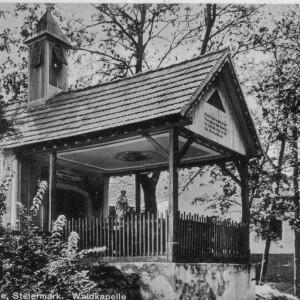 Waldkapelle beim Botenhof 1923 in Laßnithöhe damals Gemeinde Wöbling