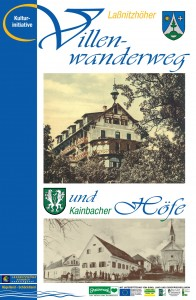 Titelseite des Folders Laßnitzhöher Villenwanderweg und Kainbacher Höfe