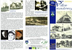 Flyer zum Villenwanderweg