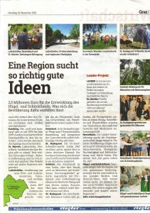 Kleine Zeitung Seite 27 Artikel zur Leaderregion