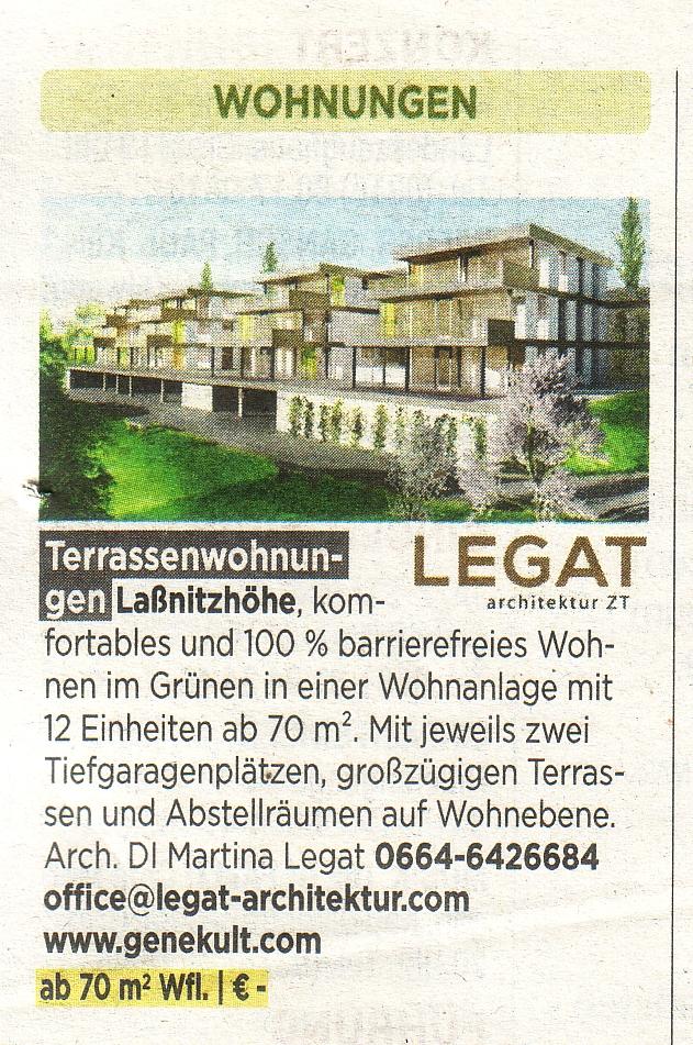 Anzeige Terassenwohnungen Laßnitzhöhe