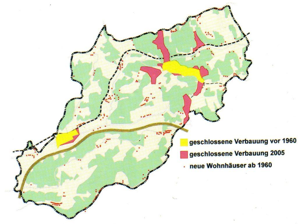 Entwicklung der geschlossenen Verbauung in Laßnitzhöhe