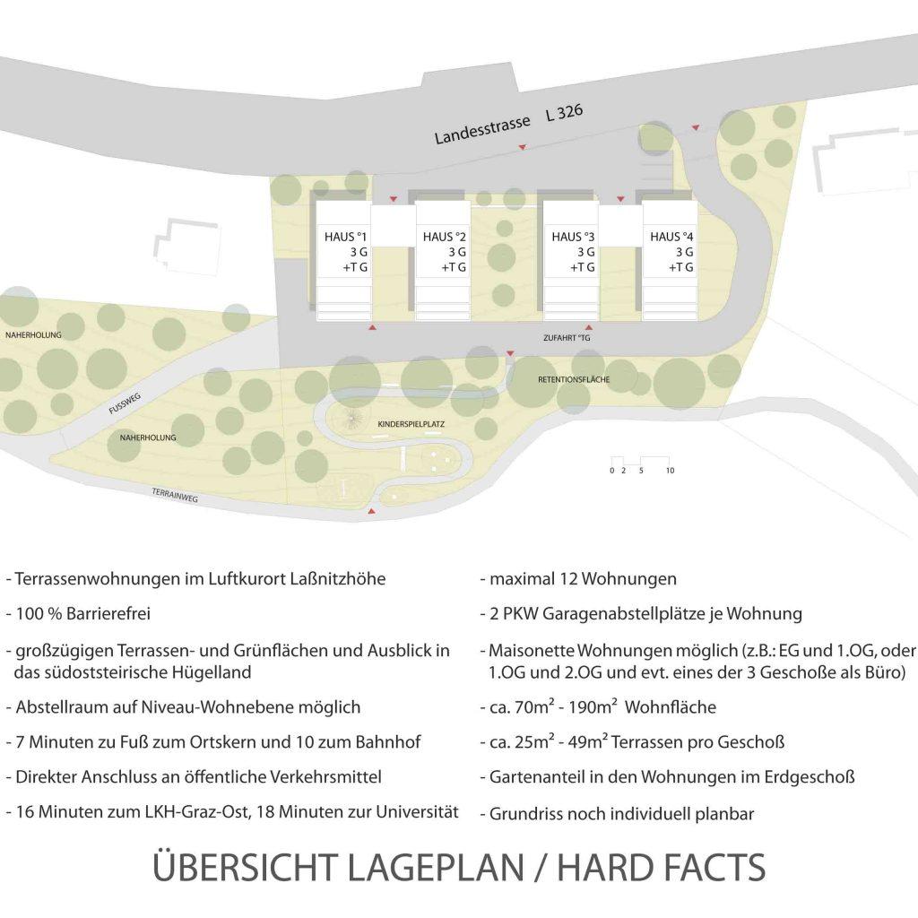 Übersichtslageplan mit Wildobstgarten