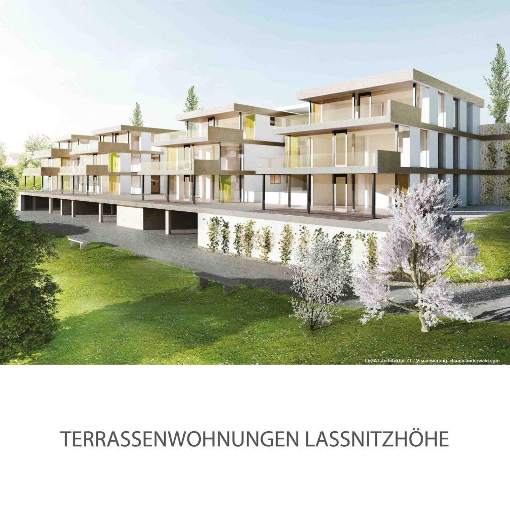 Außenansicht Terrassenwohnungen Laßnitzhöhe