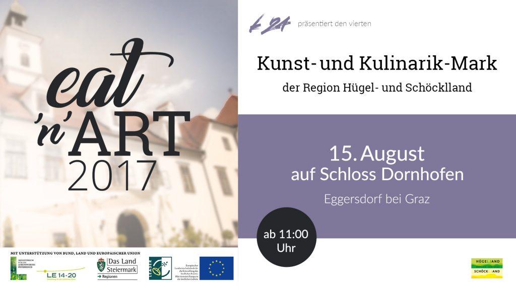 Einladung zu Eat and Art 2017 auf Schloss Dornhofen