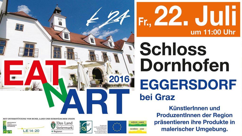 Einladung zu Eat and Art 2016 auf Schloss Dornhofen