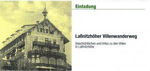Linke Innenseite der Einladung zur Eröffnung des Laßnitzhöher Villenwanderweges 2012