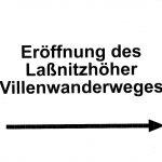 Wegweiser zur Eröffnung des Laßnitzhöher Villenwanderweges 2012
