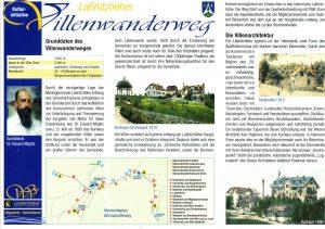Flyer zum Laßnitzhöher Villenwanderweg 2012