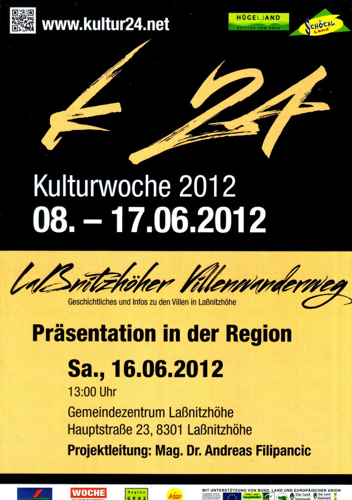 Plakat zur Eröffnung des Villenwanderweges