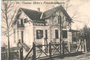 Ehlervilla als Fremdenpension um 1910