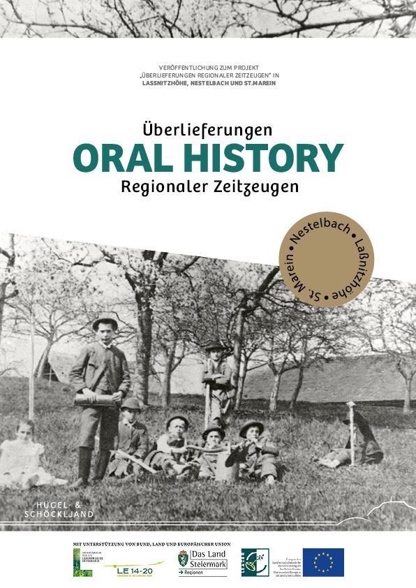 Titelseite des Bildband Überlieferungen regionaler Zeitzeugen - Oral History