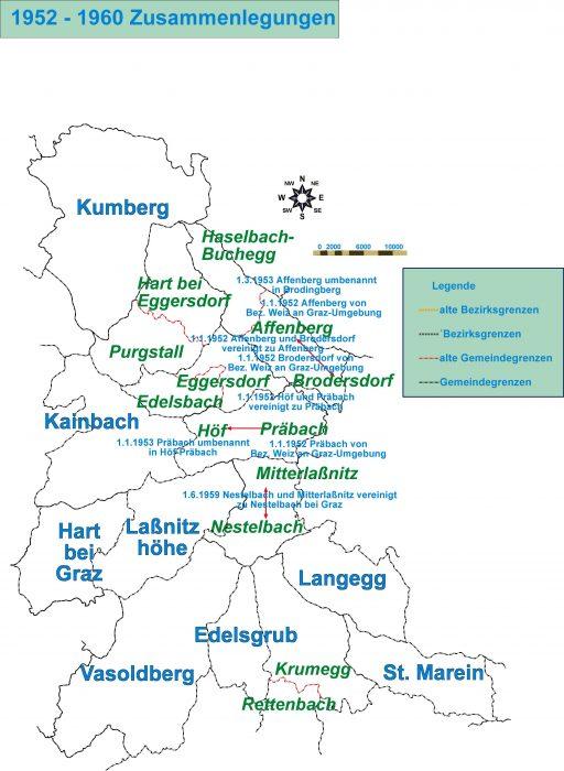 Grenzänderungen in der Region