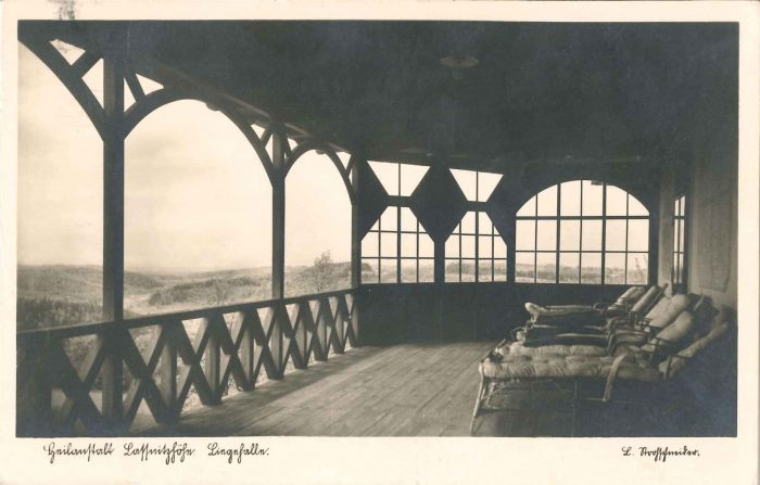 Touristik einst Liege-Halle des Kurhauses Laßnitzhöhe
