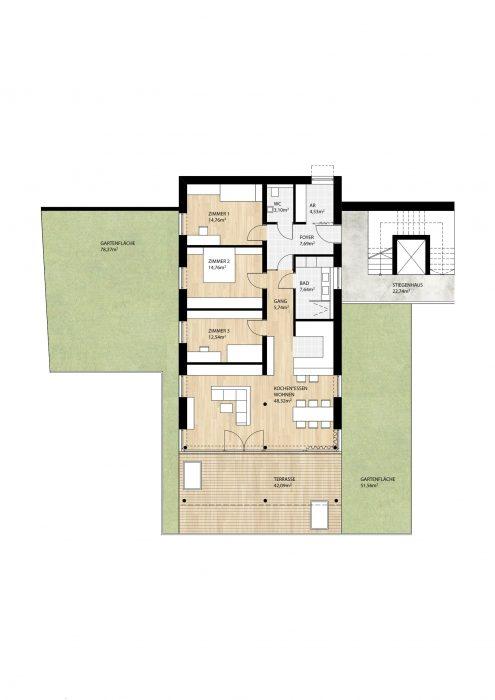 Wohnung Top1 im Erdgeschoß