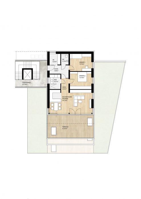 Wohnung Top12 im 2. Obergeschoß