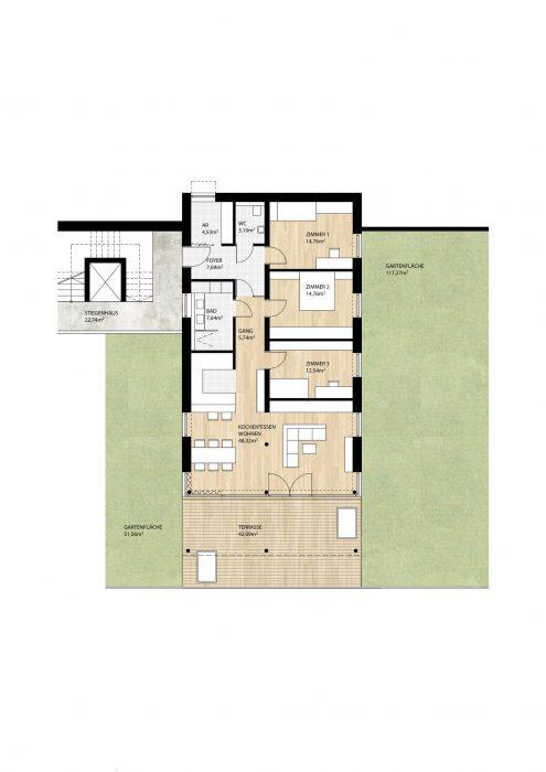 Wohnung Top2 im Erdgeschoß