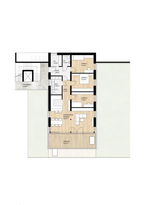 Wohnung Top4 im 1. Obergeschoß