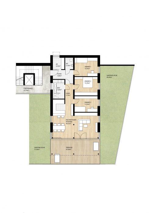 Wohnung Top8 im Erdgeschoß