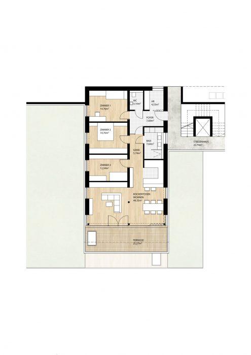 Wohnung Top9 im 1. Obergeschoß