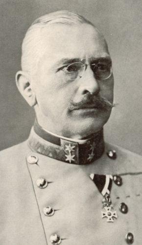 der nachmalige k.u.k.Generaloberst Victor Graf Dankl von Krasnik als Ritter des öst. kais. Lepold-Ordens