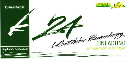 Titelseite der Einladung zur Eröffnung des Laßnitzhöher Villenwanderweges 2012