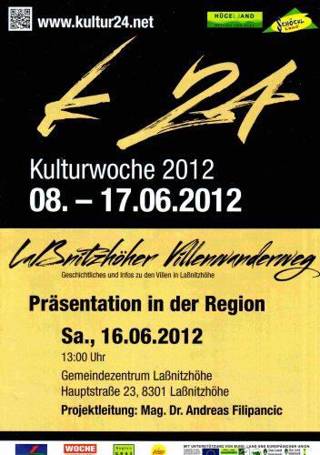 Plakat zur Eöffnung des Laßnitzhöher Villenwanderweges 2012