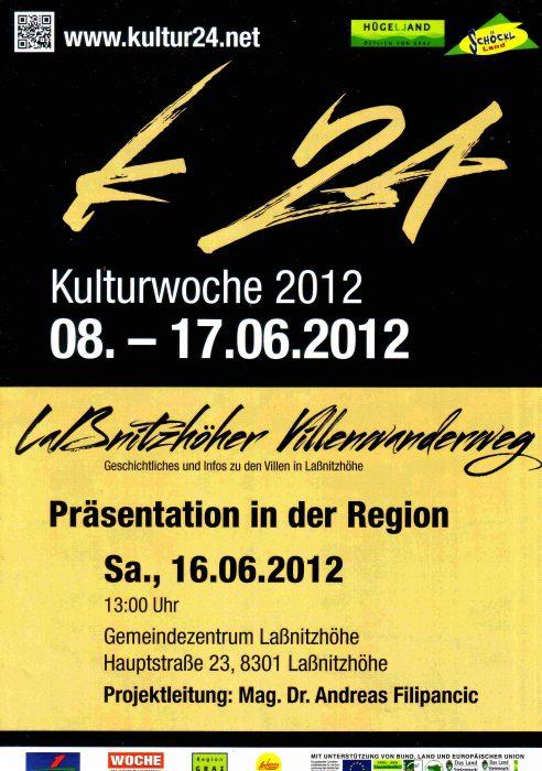 Ankündigungsplakat zur Eröffnung des Laßnitzhöher Villenwanderweges