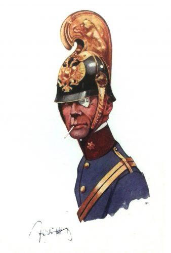 k.u.k. Oberleutnant eines Dragoner-Regimentes um 1909