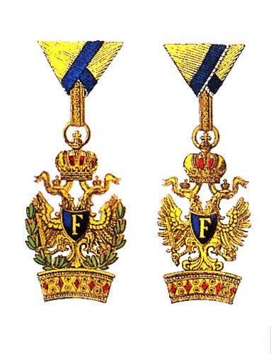 Österreichisch kaiserlicher Orden der Eisernen Krone 3. Kl. mit und ohne Kriegsdekoration.