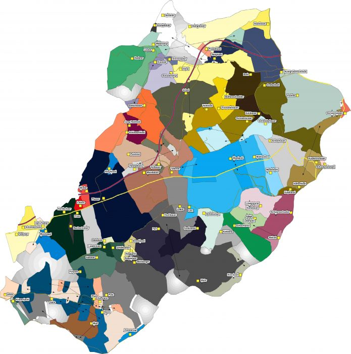 Besitzerverhältnisse in der damaligen Gemeinde Wöbling 1823