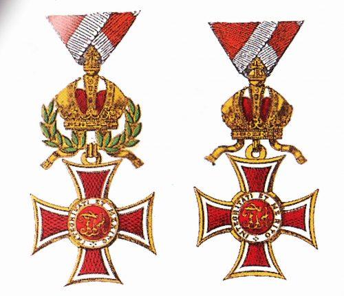 Ritterkreuz des österr. kais. Leopold-Orden mit und Kriegsdekoration