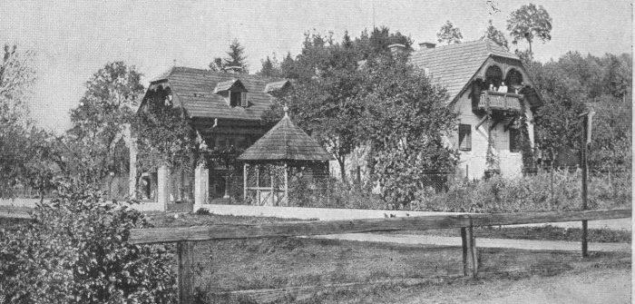 Tomsche-Villa 1910 an der Einfahrt zum Tomscheweg