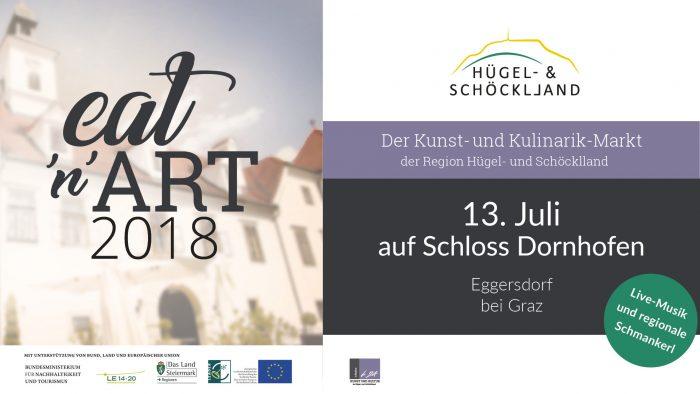 Einladung zu Eat and Art 2018 auf Schloss Dornhofen
