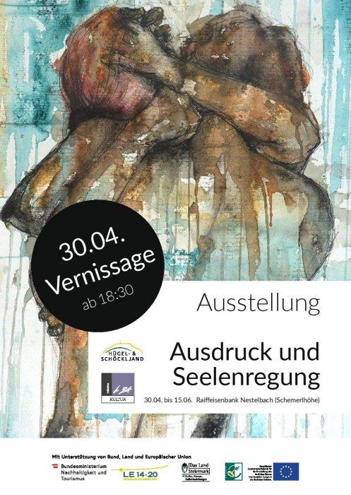 Plakat zur Eröffnung der Ausstellung Ausdruck und Seelenregung