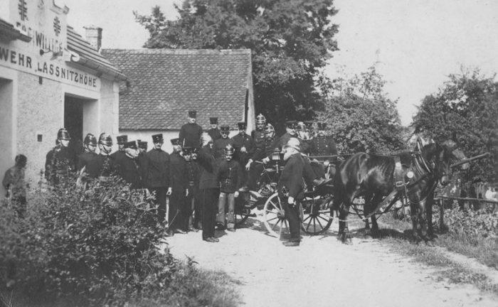 das ehemelige Rüsthaus der FF Laßnitzhöhe um 1912
