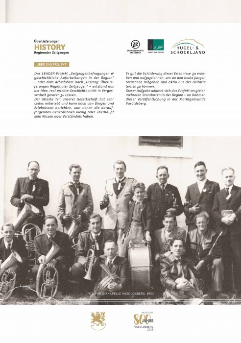 Rückseite Bildband Überlieferungen aus Vasoldsberg Regionaler Zeitzeugen