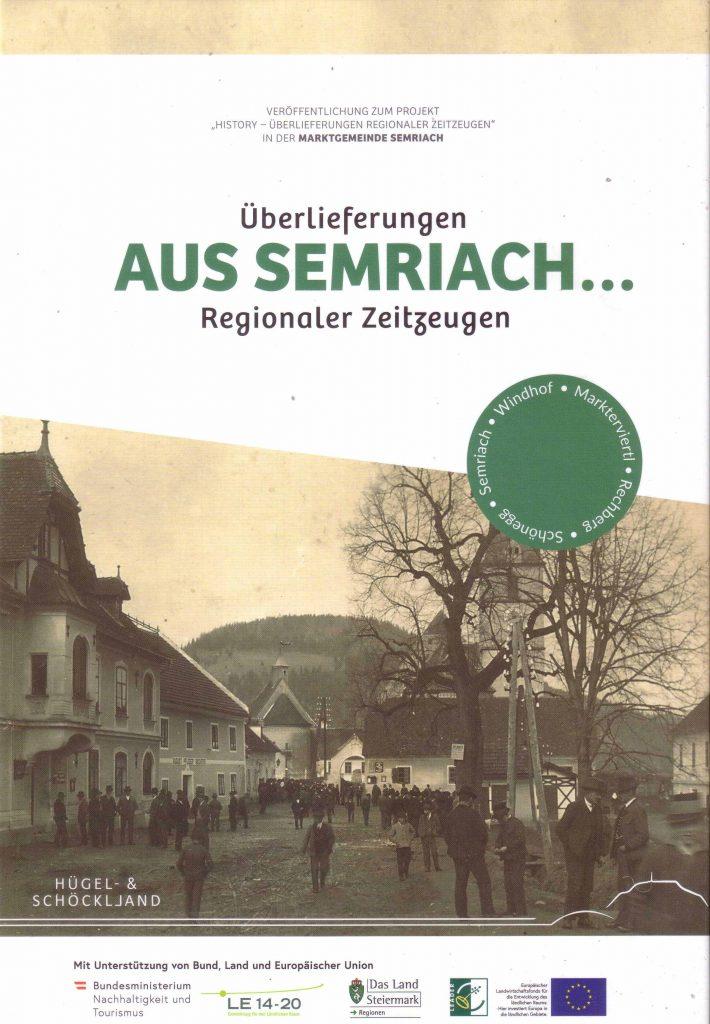Cover Bildband Überlieferungen aus Semriach... Regionaler Zeitzeugen