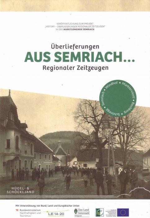 Cover Bildband Überlieferungen aus Semriach ... Regionaler Zeitzeugen